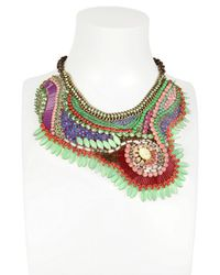 Sveva Collection - Multicolor Marilyn Monroe Embroidered Necklace - Lyst