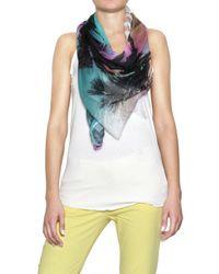 Sweet Matilda Multicolor Jersey Di Modal Stampato Scarf