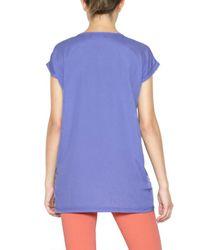Sweet Matilda Multicolor Printed Techno Jersey Strass T-shirt