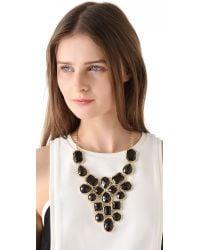 Adia Kibur   Metallic Stone Bib Necklace   Lyst