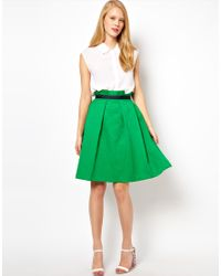 ASOS Collection Green Midi Skirt in Texture
