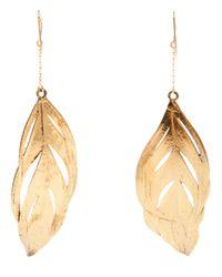 Aurelie Bidermann | Metallic Swan Feather Earrings | Lyst