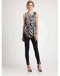 By Malene Birger | Black Silk Print Top | Lyst
