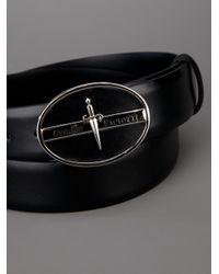 Cesare Paciotti - Black Embossed Buckle Belt for Men - Lyst