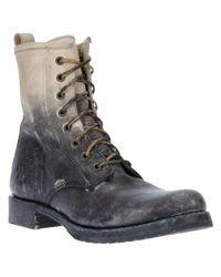 Frye | Black Veronica Combat Boot | Lyst