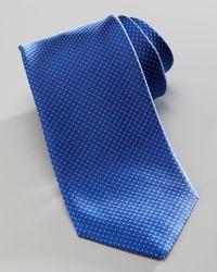 HUGO | Blue Textured Silk Tie for Men | Lyst