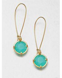 kate spade new york - Green Faceted Drop Earrings - Lyst