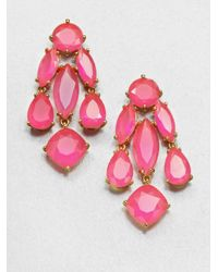 kate spade new york | Pink Faceted Statement Chandelier Earrings | Lyst