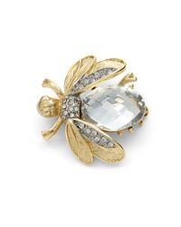 Kenneth Jay Lane | Metallic Crystal Bee Pin | Lyst