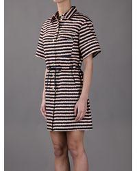 KENZO | Black Striped Shirt Dress | Lyst