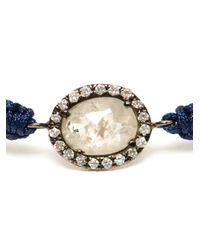 Kimberly Mcdonald - Blue Rose Cut Diamond and Macramé Bracelet - Lyst