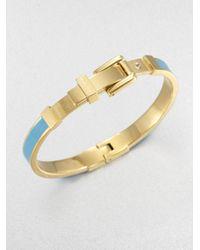 Michael Kors Metallic Enamel Buckle Bangle Braceletturquoise
