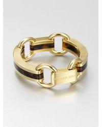 Michael Kors - Metallic Tortoiseprint Scupted Link Bracelet - Lyst