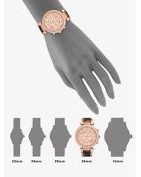 Michael Kors   Brown Parker Pavé Rose Goldtone Stainless Steel & Tortoise-print Acetate Chronograph Bracelet Wat   Lyst