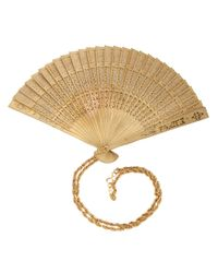 Moschino Natural Fan Pendant Necklace