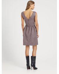 Nina Ricci - Purple Bow Dress - Lyst