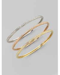 Roberto Coin - Metallic Diamond 18k Rose Gold Bracelet - Lyst