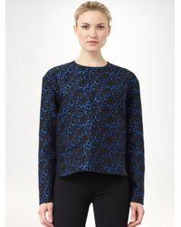 Stella McCartney Blue Brocade Jacquard Top