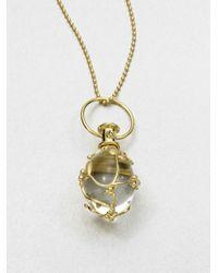 Temple St. Clair | Metallic Tree Of Life Rock Crystal, Diamond & 18k Yellow Gold Medium Vine Amulet | Lyst