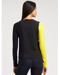 Theory Black Abner Colorblock Woolrich Sweater