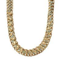 ASOS - Metallic Skull Collar Necklace - Lyst
