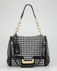 Diane von Furstenberg | Black Shoulder Bag New Harper Charlotte Check | Lyst