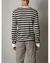 Dolce & Gabbana | Blue Rawedge Stripe Top for Men | Lyst