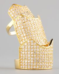 Eddie Borgo Metallic Pave Crystal Hinge Ring