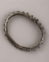 Eddie Borgo | Metallic Small Pave Pyramid Bracelet | Lyst