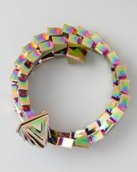 Eddie Borgo - Multicolor Serpentine Wrap Bracelet - Lyst