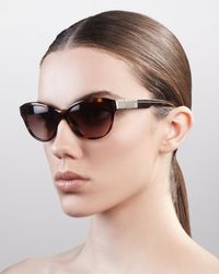 Givenchy Multicolor Cat Eye Sunglasses Havana