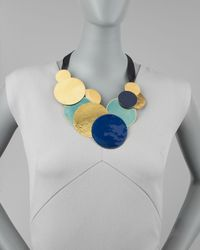 Herve Van Der Straeten | Blue Pastilles Dot Ribbon Necklace | Lyst