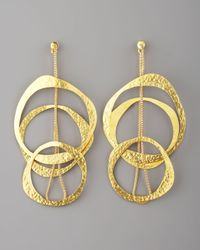 Herve Van Der Straeten Metallic Multicircle Earrings