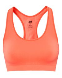 H&M | Red Sports Bra | Lyst