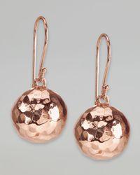 Ippolita Metallic Hammered Ball Earrings Rose Gold