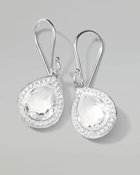 Ippolita | Metallic Rock Candy Diamond Quartz Teardrop Earrings | Lyst