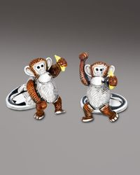Jan Leslie | Brown Moving Monkey Cuff Links for Men | Lyst
