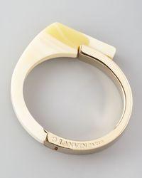 Lanvin - White Abstract Resin Bracelet  - Lyst