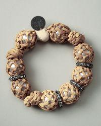 Lanvin Natural Raffia-wrapped Bracelet