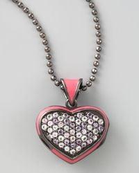 M.c.l  Matthew Campbell Laurenza Metallic Pave Heart Pendant Necklace