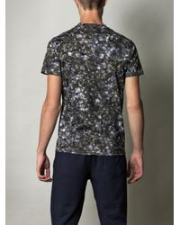 Moncler - Gray Camouflage-Print T-Shirt for Men - Lyst