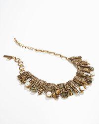 Oscar de la Renta | Gold Pearl Detailed Branch Bib Necklace | Lyst