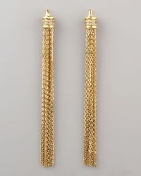 Paige Novick | Metallic Shouldersweeping Tassel Earrings | Lyst