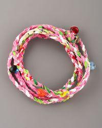 Same Sky | Multicolor Beaded Woven Wrap Bracelet | Lyst