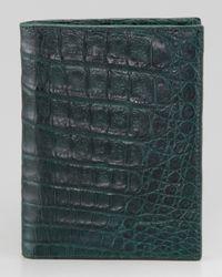 Santiago Gonzalez - Green Crocodile Passport Cover for Men - Lyst