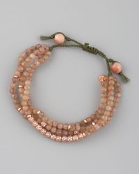 Tai | Pink Four-strand Agate Bracelet | Lyst