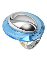 Masini | Vanita' - Blue Sterling Silver Oval Ring | Lyst