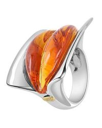 Masini | Red Vanita' - Amber Murano Glass Ring | Lyst