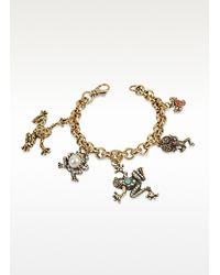 Alcozer & J - Brown Frog Charm Brass Bracelet - Lyst