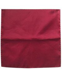 FORZIERI - Red Cranberry Silk Pocket Square - Lyst